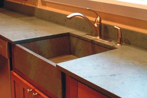 Slate with Integrated Sink