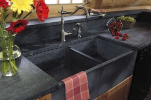 Soap Stone with Integrated Sink